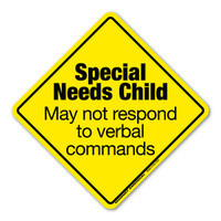 Special Needs Child Emergency Alert  Sticker