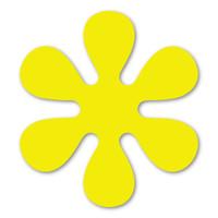 Yellow 70's Flower Magnet
