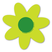 Green and Green Flower Magnet