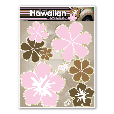 Give a tropical look to your car with these Hawaiian car magnet designs.