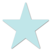Light Blue Star Magnet