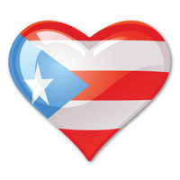 Puerto Rico Heart Magnet