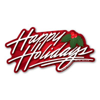 Happy Holidays Bumper Strip  Magnet