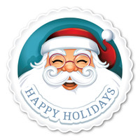 Happy Holidays Santa Magnet