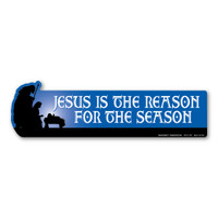 Jesus is the Reason for the Season Bumper Strip Magnet