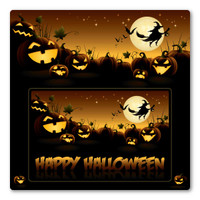 Happy Halloween Picture Frame  Indoor Magnet