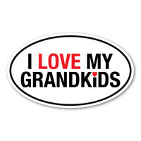 I Love My Grandkids Oval Sticker