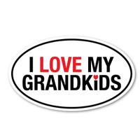 I Love My Grandkids Oval Magnet