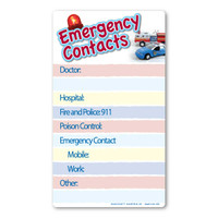 Emergency Contacts Memo Board Indoor Magnet