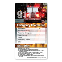 Emergency Information Memo Board Indoor Magnet