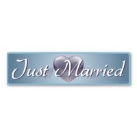 Just Married Bumper Strip Decal