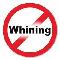 No Whining Circle Magnet
