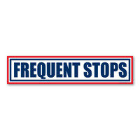 Frequent Stops Bumper  Magnet