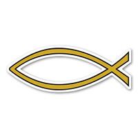 Gold Plain Fish Mini Magnet