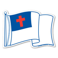 Waving Christian Flag Magnet