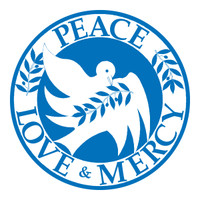 Peace, Love, Mercy Circle Magnet