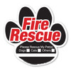 Know your pet is secure with this Pet Fire Rescue window cling. Alert firefighters and emergency personnel that you have pets in your home by adhering this window cling to a window or sliding glass door.