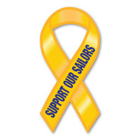 Support Our Sailors Ribbon Magnet