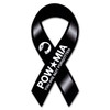 Honor those who were taken prisoner and were never found with this ribbon magnet.