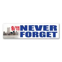 9/11 Never Forget Bumper Strip Magnet