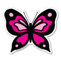 Pink Butterfly Magnet