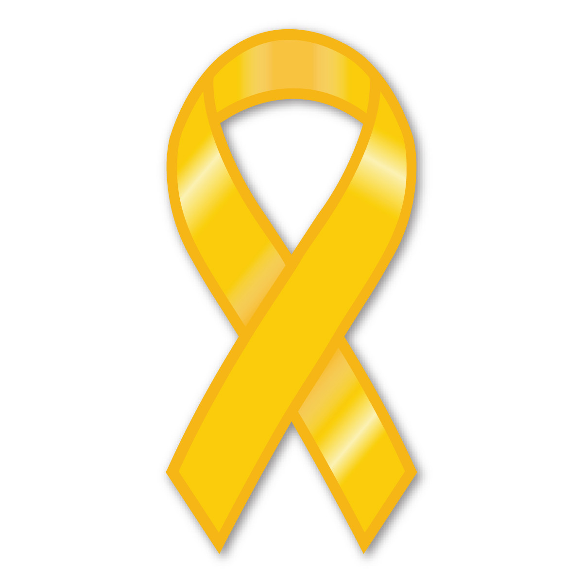 Plain Yellow Ribbon Magnet | Magnet America