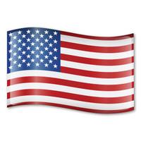 American Flag Car Sign Magnet