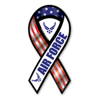 Air Force Red, White, & Blue 2-in-1 Ribbon  Magnet