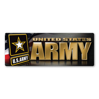Army Chrome Bumper Strip  Magnet