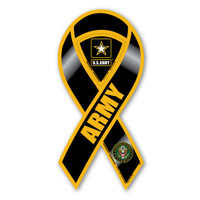 Army Black 2-in-1 Ribbon  Magnet