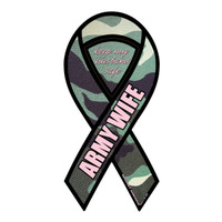Army Wife Green Camo 2-in-1 Ribbon Magnet