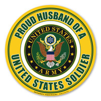 Proud Husband of a US Soldier Circle  Magnet