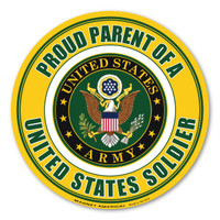 Proud Parent of a US Soldier Circle  Magnet