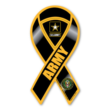 This mini ribbon magnet is perfect for showing support for our men and women in the U.S. Army.