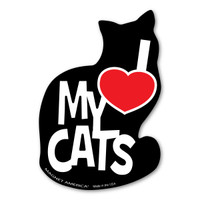 I Love My Cats Magnet
