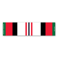 Afghanistan War Service Mini Ribbon Bar Magnet