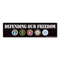 Defending Our Freedom Bumper Strip Magnet
