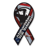 Afghanistan War Veteran Salute Ribbon Magnet