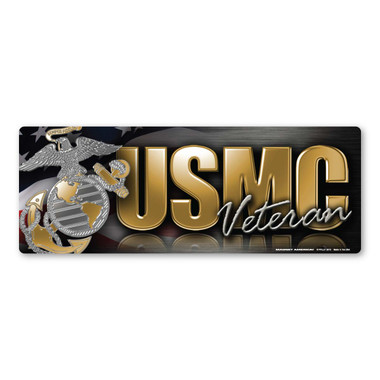 """In 1775, the Marine Corps was formed as the Continental Marines. They were specifically established to serve as an infantry branch that was able to engage in combat both on land and at sea during the American Revolutionary War. Today, members of the Marine Corps work closely with the Navy as well as the Army and the Air Force, gaining nicknames such as """"America's third Air Force"""" and """"America's second land Army."""" This Bumper Strip Magnet is a great way for Marine Veterans to show pride in their branch and service to our country."""
