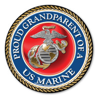 """In 1775, the Marine Corps was formed as the Continental Marines. They were specifically established to serve as an infantry branch that was able to engage in combat both on land and at sea during the American Revolutionary War. Today, members of the Marine Corps work closely with the Navy as well as the Army and the Air Force, gaining nicknames such as """"America's third Air Force"""" and """"America's second land Army."""" This Circle Magnet is a great way for Marine Grandparents to show their pride and support for their grandchildren's service to our country."""