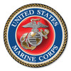 """In 1775, the Marine Corps was formed as the Continental Marines. They were specifically established to serve as an infantry branch that was able to engage in combat both on land and at sea during the American Revolutionary War. Today, members of the Marine Corps work closely with the Navy as well as the Army and the Air Force, gaining nicknames such as """"America's third Air Force"""" and """"America's second land Army."""" This 5"""" Circle Magnet can be used by former and current Marines to show pride in their branch. It can also be used by others to show support for the USMC."""