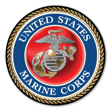 """In 1775, the Marine Corps was formed as the Continental Marines. They were specifically established to serve as an infantry branch that was able to engage in combat both on land and at sea during the American Revolutionary War. Today, members of the Marine Corps work closely with the Navy as well as the Army and the Air Force, gaining nicknames such as """"America's third Air Force"""" and """"America's second land Army."""" This Car Door Sign can be used for special events or by former and current Marines to show their pride in their branch."""