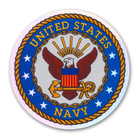 The U. S. Navy was founded in 1775 as the Continental Navy during the Revolutionary War. Today, the men and women of the Navy continue to serve our country and protect our freedom. This Holographic Circle Decal is a great way for current Navy members and those who have served in the past to show pride for their branch. It is also a great way for others to show their support.