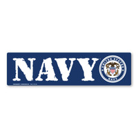 The U. S. Navy was founded in 1775 as the Continental Navy during the Revolutionary War. Today, the men and women of the Navy continue to serve our country and protect our freedom. This Bumper Strip Magnet is a great for both people currently serving in the Navy or those who have served in the past to display pride for their branch. It can also be used by others to show support for the Navy.