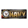 The U. S. Navy was founded in 1775 as the Continental Navy during the Revolutionary War. Today, the men and women of the Navy continue to serve our country and protect our freedom. This Bumper Strip Magnet is a great way for Retired Navy Members to show pride in their service to our country.