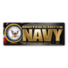 The U. S. Navy was founded in 1775 as the Continental Navy during the Revolutionary War. Today, the men and women of the Navy continue to serve our country and protect our freedom. Bumper Strip Magnet is a great for both people currently serving in the Navy or those who have served in the past to display pride for their branch. It can also be used by others to show support for the Navy.
