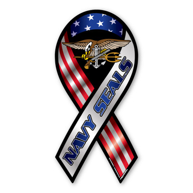 The U. S. Navy was founded in 1775 as the Continental Navy during the Revolutionary War. Today, the men and women of the Navy continue to serve our country and protect our freedom. This Large U. S. Navy Seals Ribbon Magnet is a great way for current and former Seals to show pride in their work and for others to show their support.
