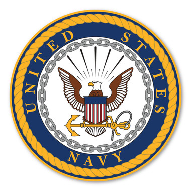 """The U. S. Navy was founded in 1775 as the Continental Navy during the Revolutionary War. Today, the men and women of the Navy continue to serve our country and protect our freedom. This 11.5"""" Car Door Sign can be used for special events or for former and current members of the Navy to show pride in their branch."""