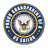 "The U. S. Navy was founded in 1775 as the Continental Navy during the Revolutionary War. Today, the men and women of the Navy continue to serve our country and protect our freedom. This 5"" Circle Magnet is a great way for Navy Grandparents to show their pride and support in their grandchildren's service to our country."