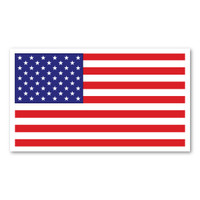 The United States Flag was first created in 1777, bearing 13 stars to represent the 13 colonies. The number of stars in the flag has changed many times as states were added between 1777 and 1960, when the flag came to be as it is today. This American Flag Rectangle Indoor Magnet can be displayed on refrigerators, file cabinets, and other metal surfaces to show that you are proud to be an American!